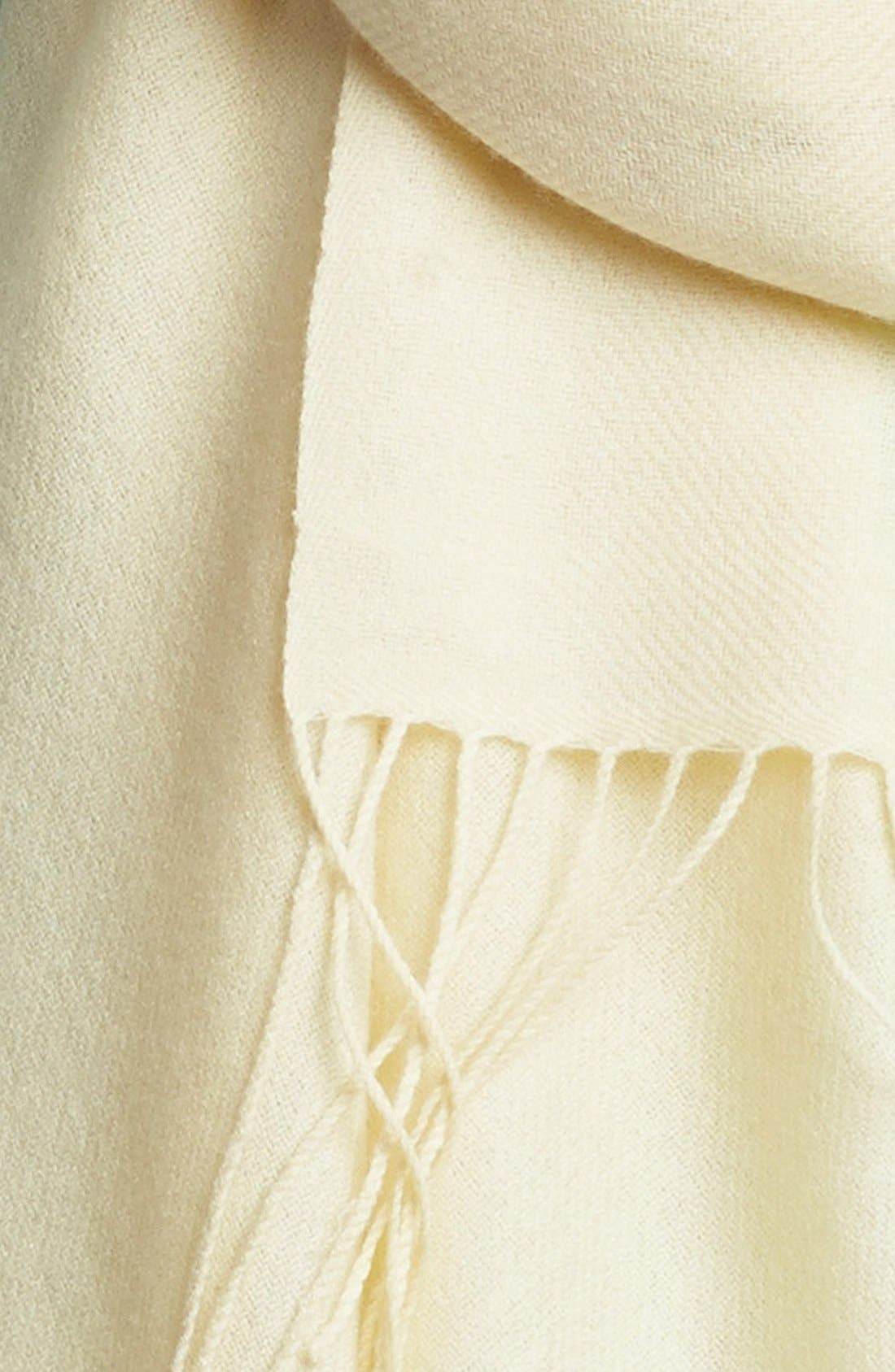 Tissue Weight Wool & Cashmere Wrap,                             Alternate thumbnail 2, color,                             Cream Whip
