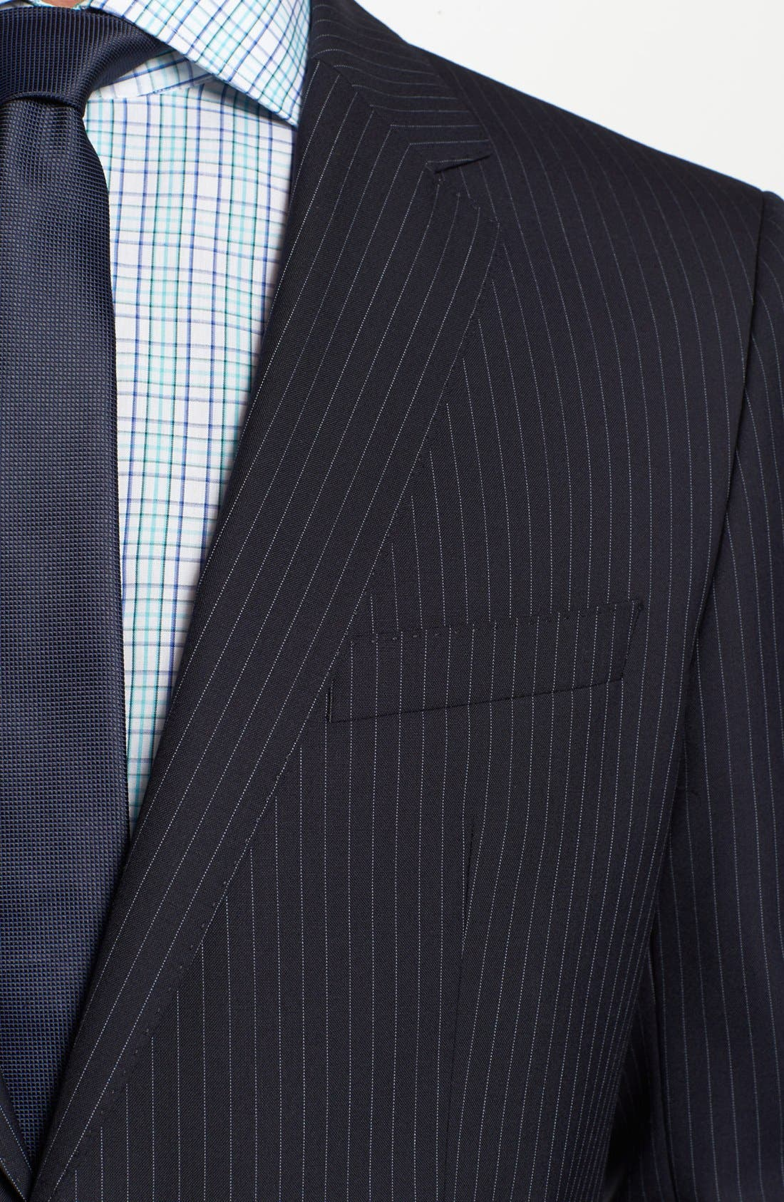 Alternate Image 2  - BOSS Black 'James/Sharp' Trim Fit Stripe Wool Suit