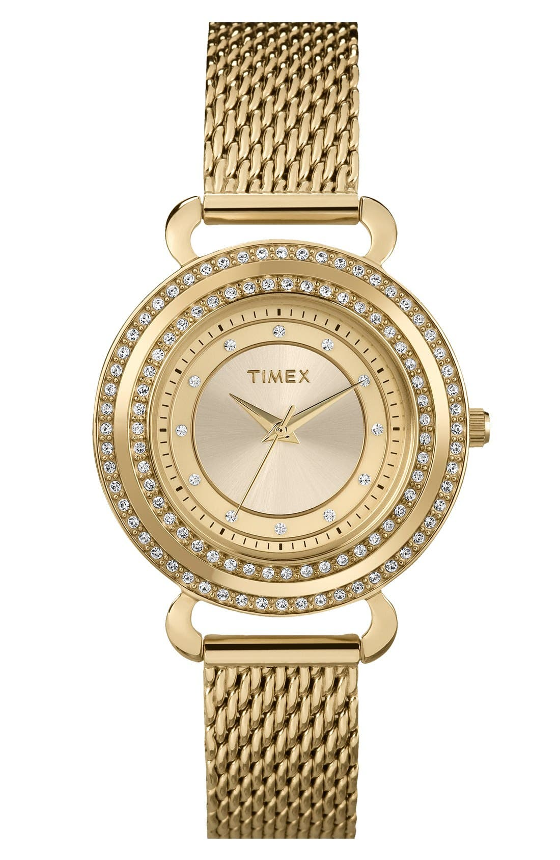 Main Image - Timex® 'Classic Crystals' Round Bracelet Watch, 33mm