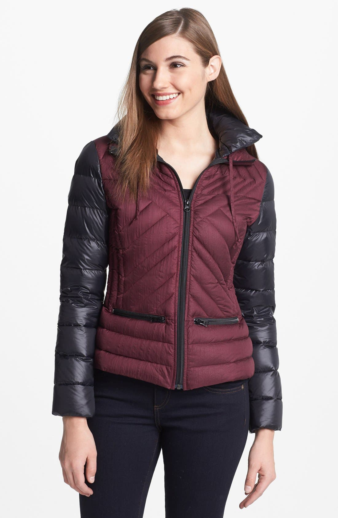 Alternate Image 2  - Bernardo Two Tone Packable Goose Down Jacket