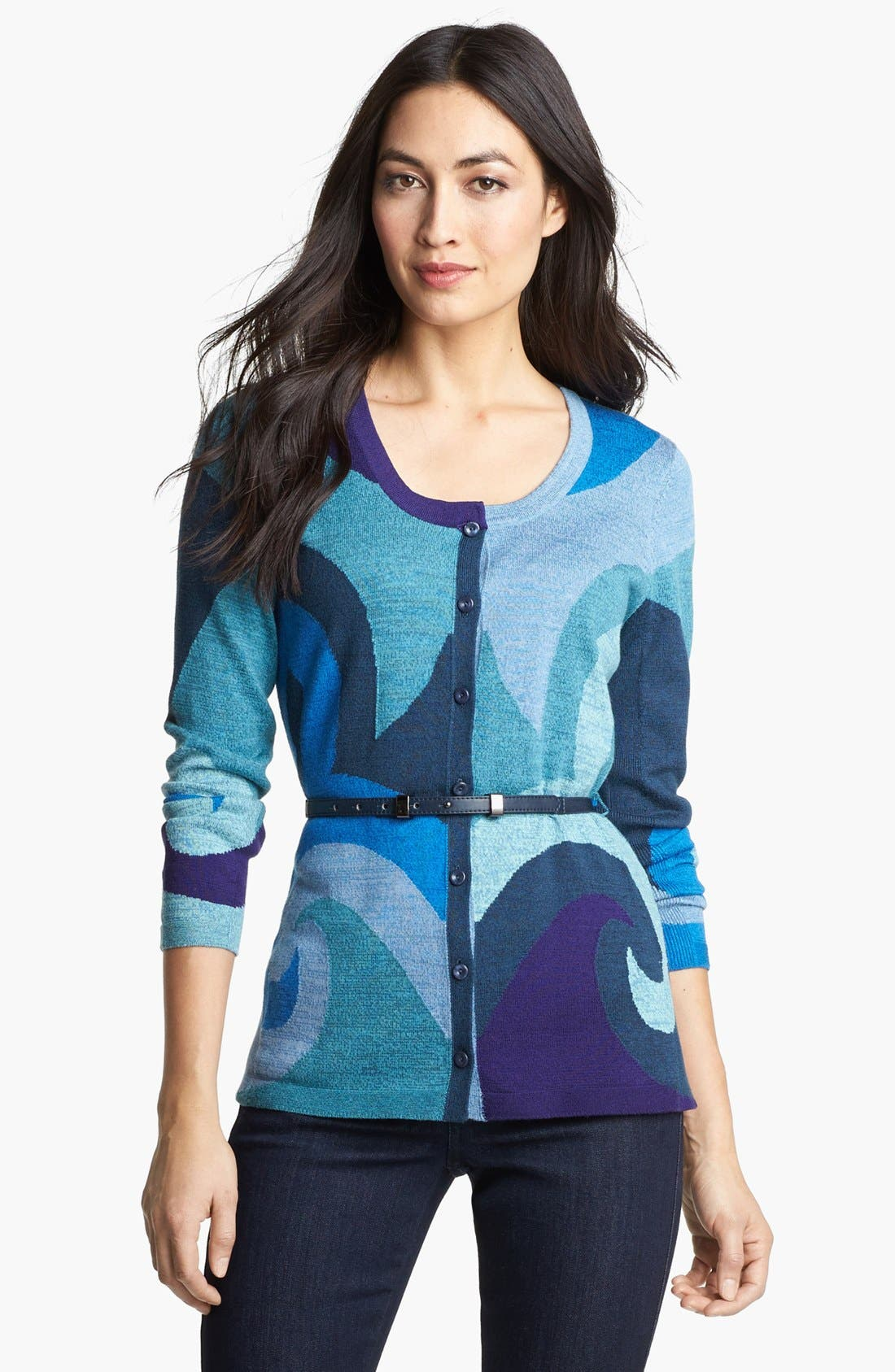 Alternate Image 1 Selected - NIC+ZOE Belted Scroll Cardigan
