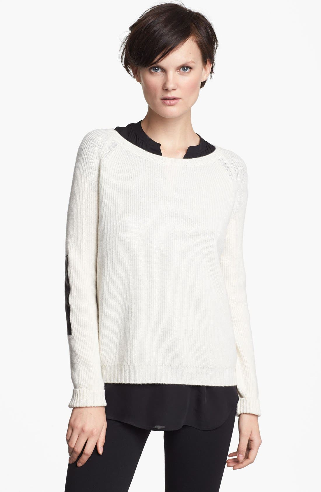 Alternate Image 1 Selected - Vince Elbow Patch Sweater