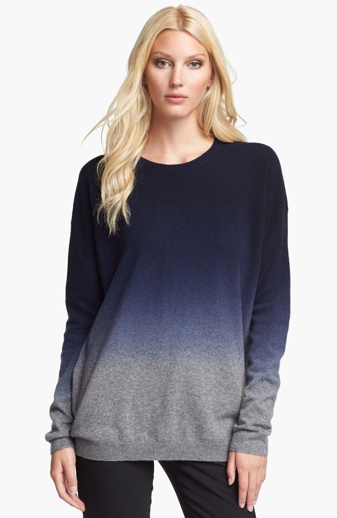 Alternate Image 1 Selected - Vince Oversized Dip Dye Cashmere Blend Sweater