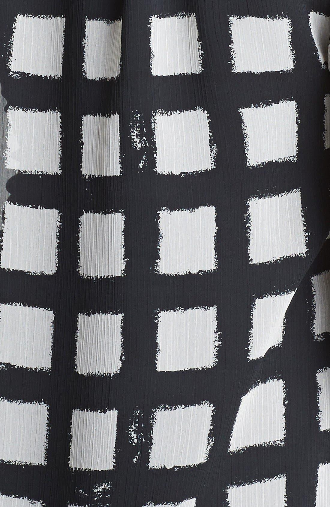 Alternate Image 2  - MICHAEL Michael Kors Chain Trim Check Print Blouse (Regular & Petite)