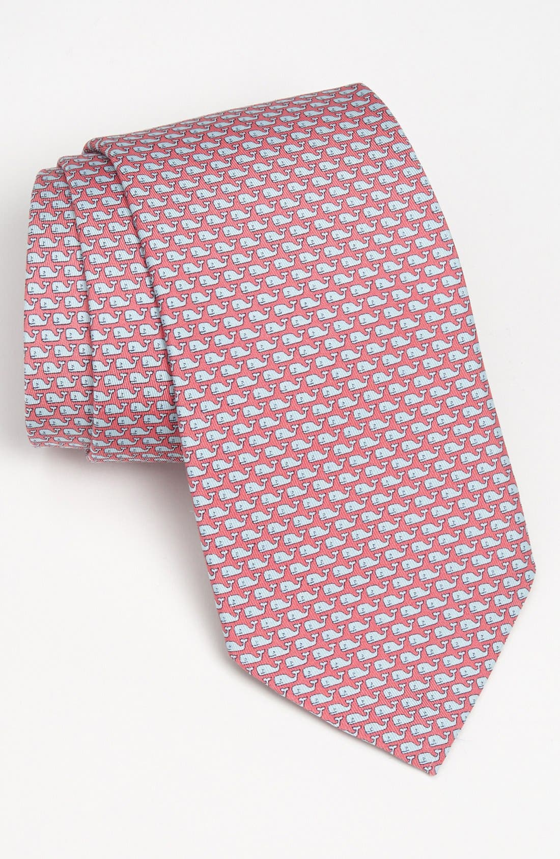 Whale Silk Tie,                         Main,                         color, Pink