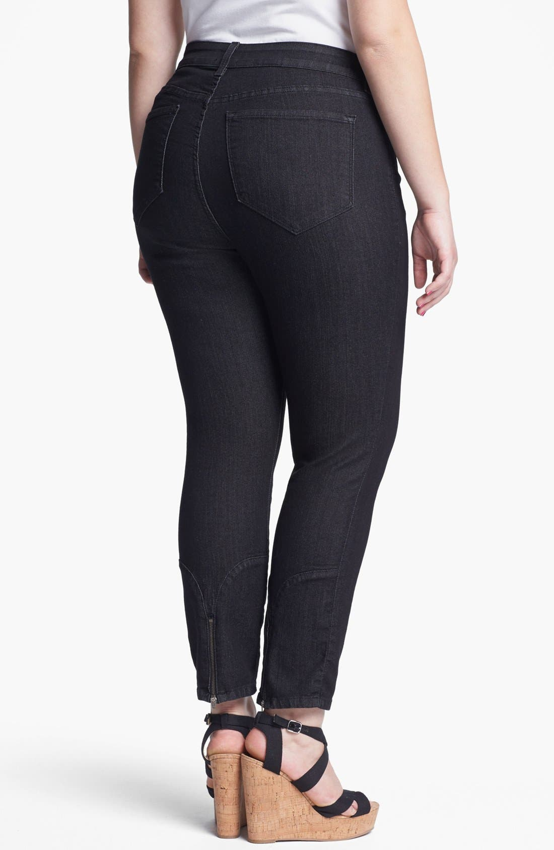 Alternate Image 2  - NYDJ 'Jill' Fitted Ankle Jeans (Plus Size)