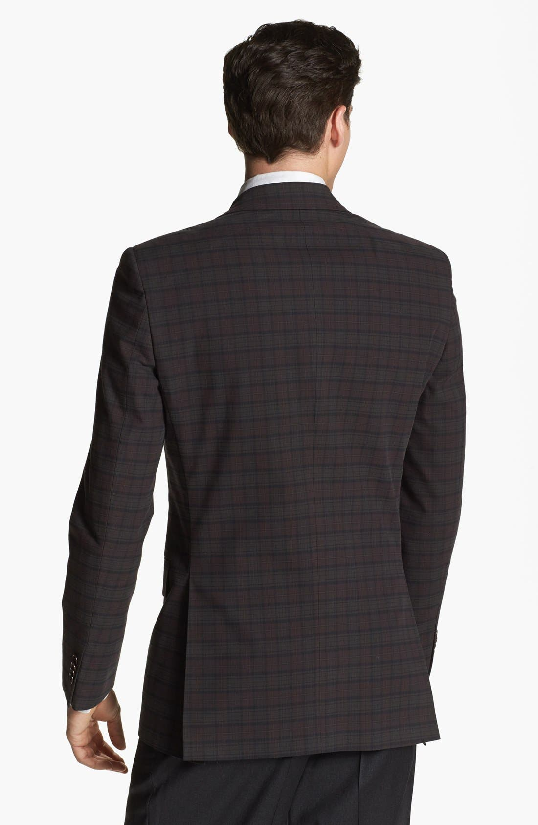 Alternate Image 3  - John Varvatos Star USA Plaid Trim Fit Sportcoat