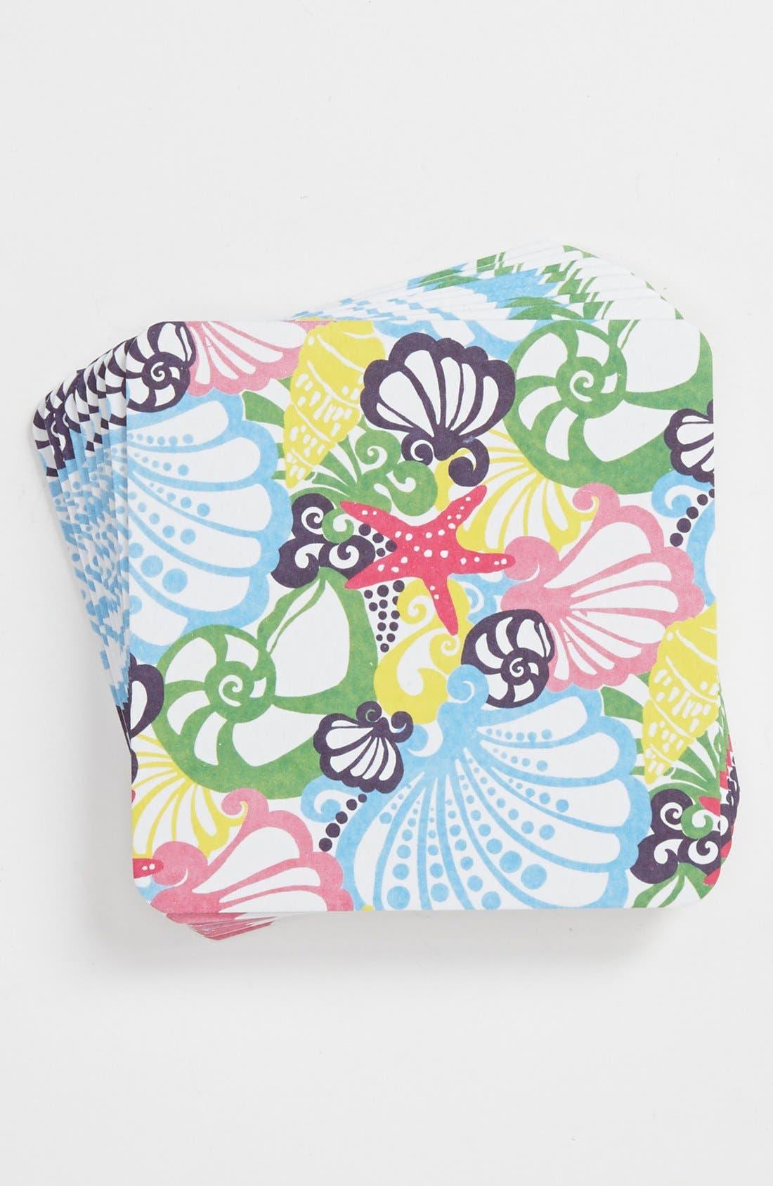 Main Image - Lilly Pulitzer® 'Drink Up, Buttercup! - Chiquita Bonita' Paper Coasters (Set of 24)