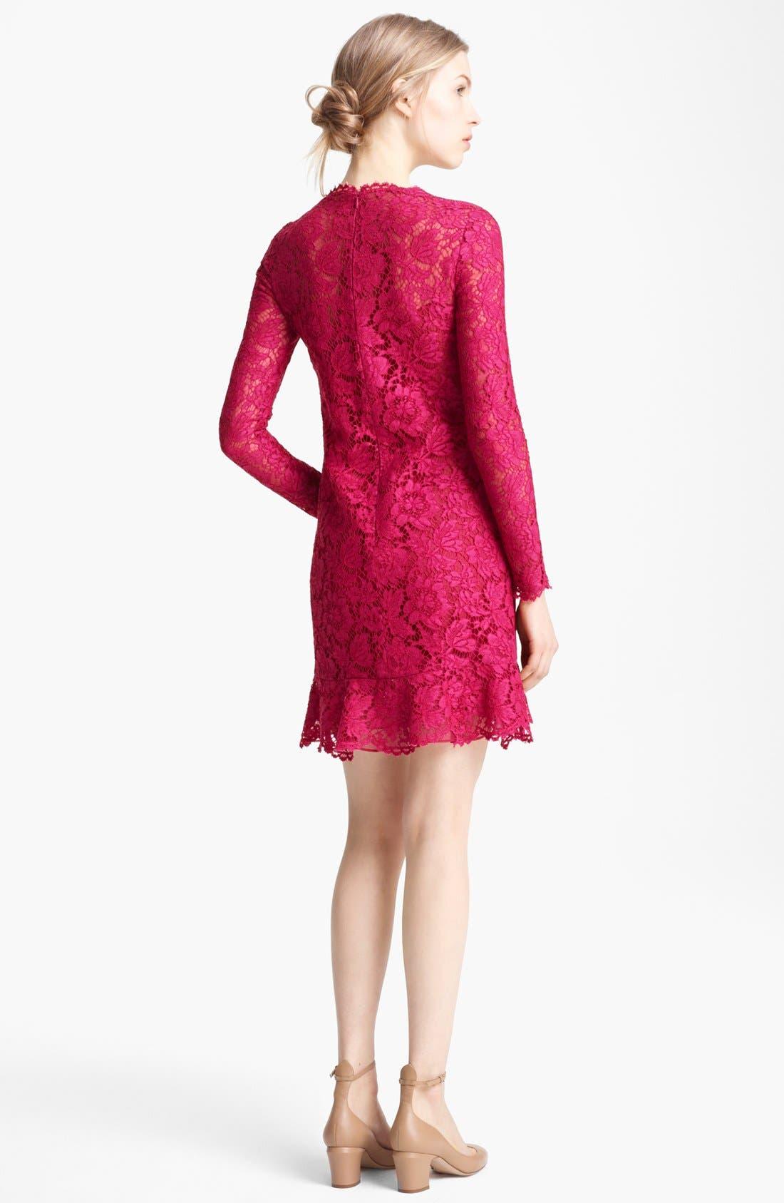 Alternate Image 2  - Valentino Ruffle Hem Lace Dress