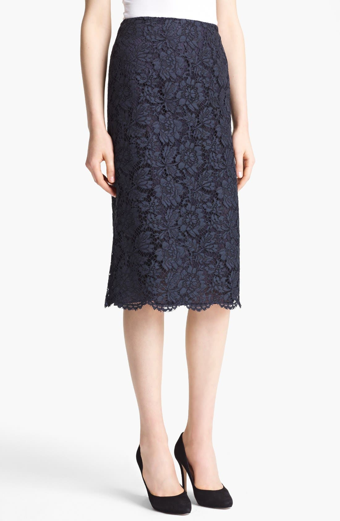Alternate Image 1 Selected - Valentino Tubino Lace Skirt
