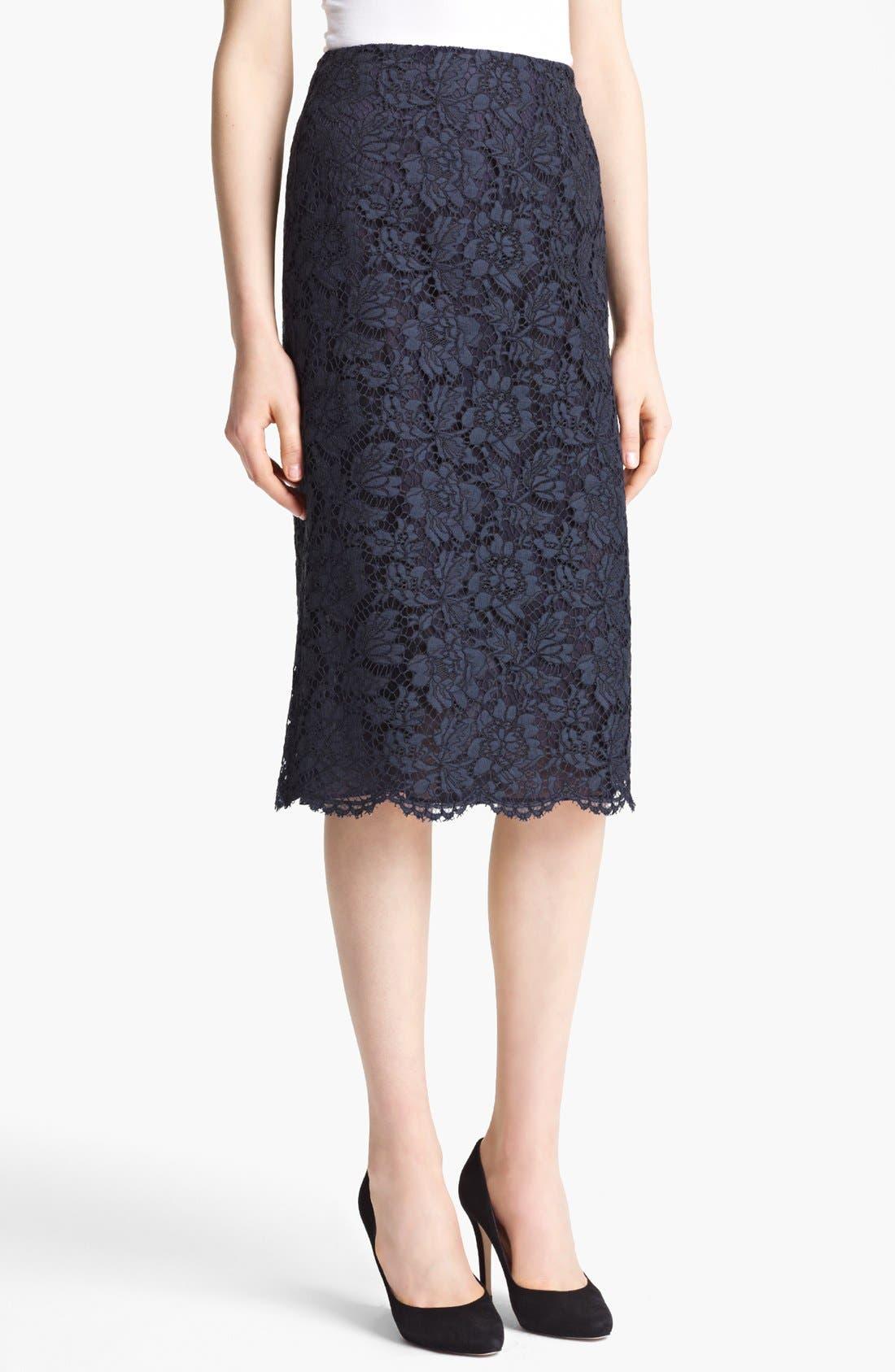 Main Image - Valentino Tubino Lace Skirt
