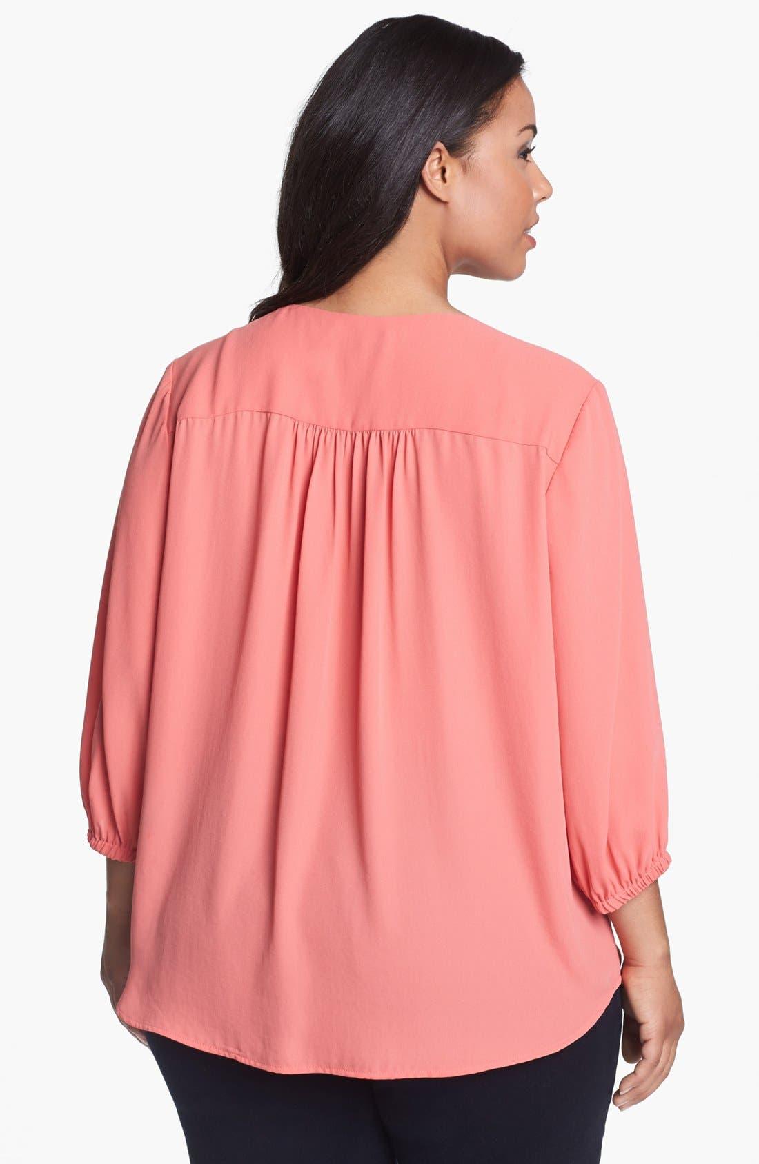 Alternate Image 2  - Karen Kane Blouson Shirt (Plus Size)