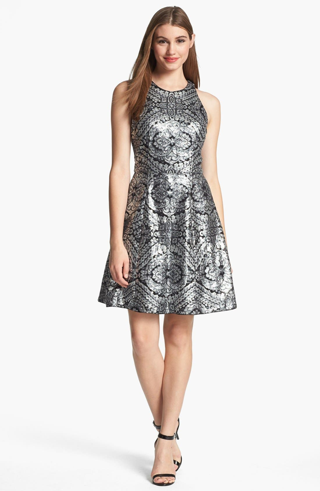 Alternate Image 1 Selected - Adrianna Papell Racerback Sequin Dress