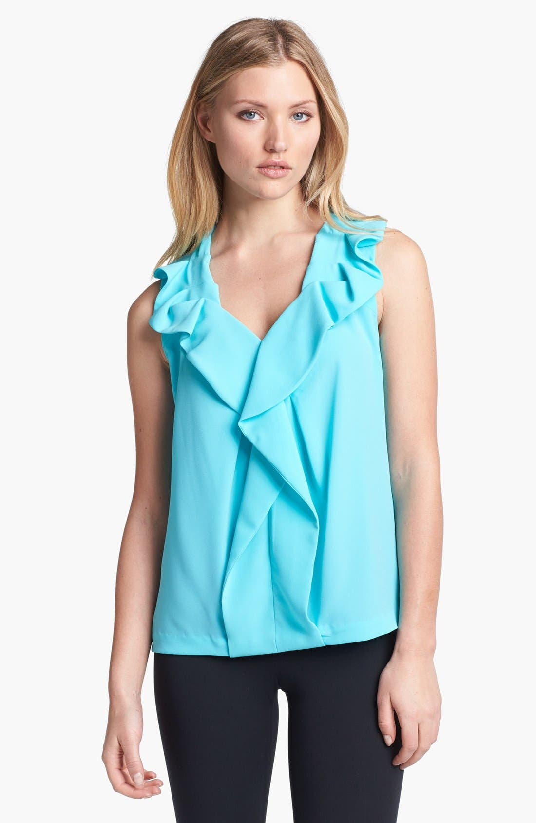 Alternate Image 1 Selected - Diane von Furstenberg 'Bobbie' Ruffle Top
