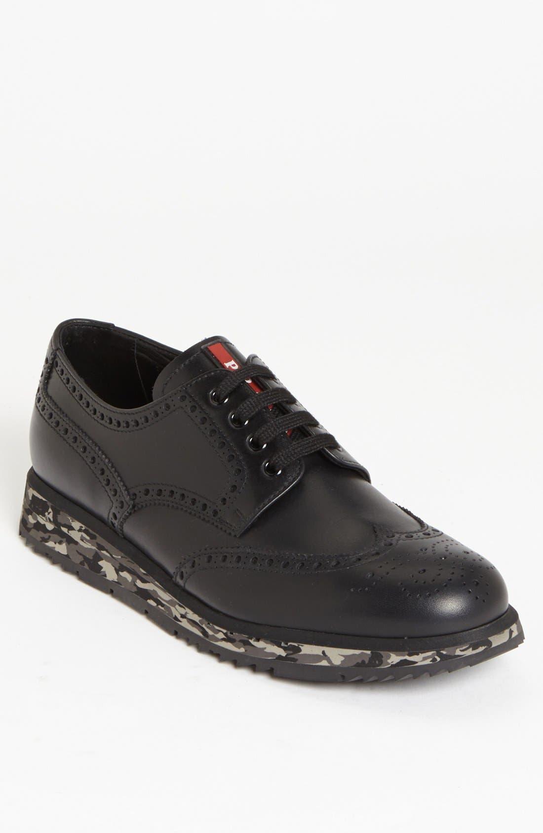 Alternate Image 1 Selected - Prada Wingtip Sneaker