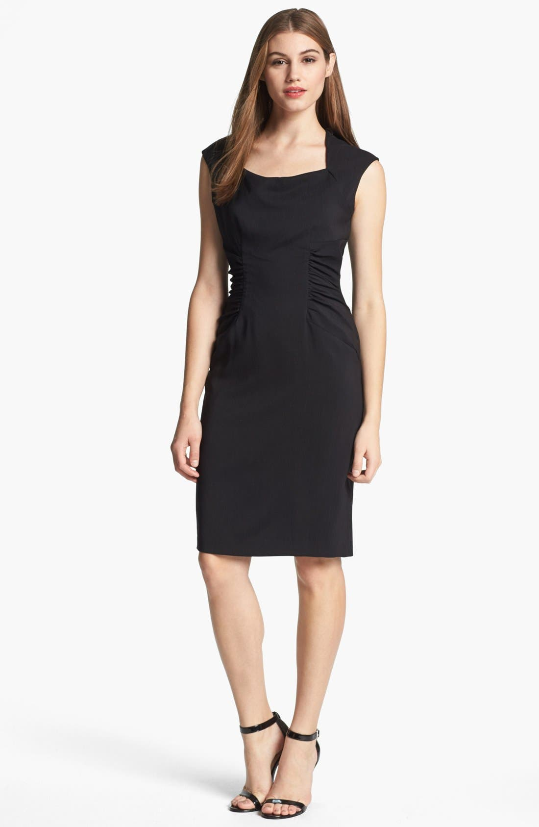 Alternate Image 1 Selected - Adrianna Papell Ruched Sheath Dress