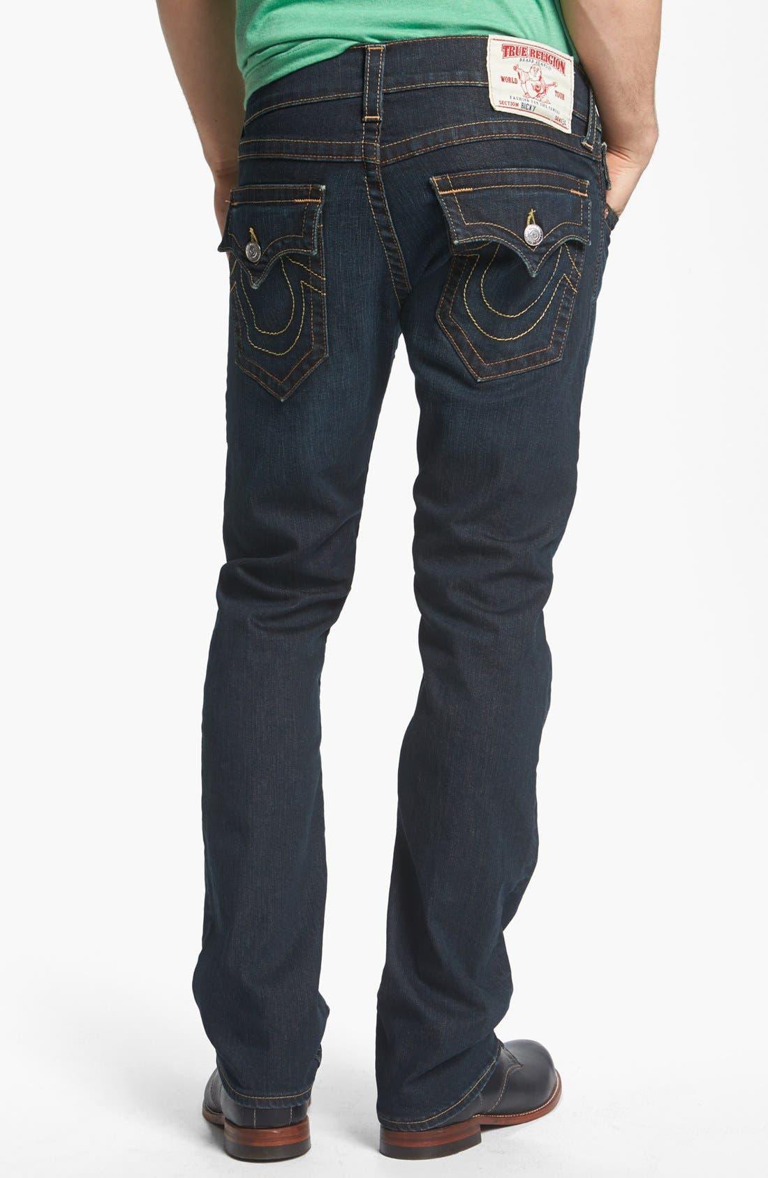 Alternate Image 1 Selected - True Religion Brand Jeans 'Ricky' Straight Leg Jeans (Jackknife)