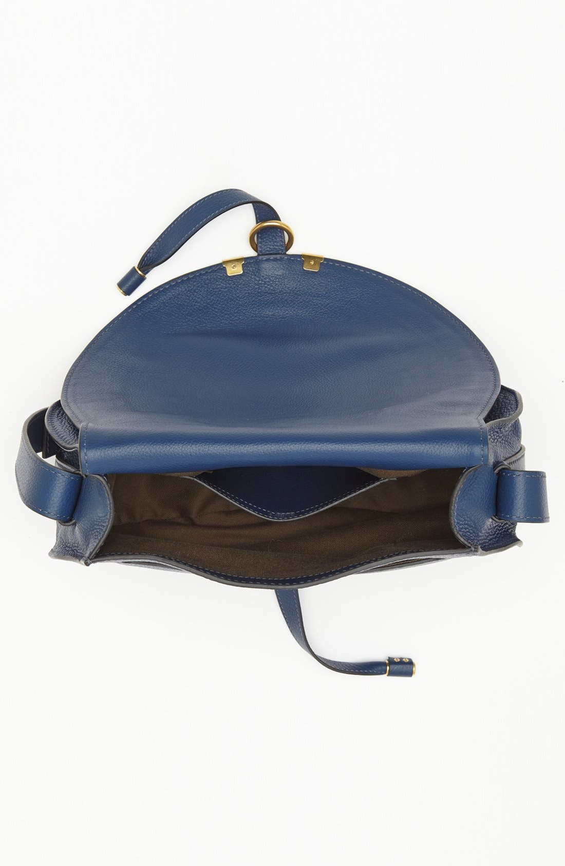 'Marcie - Medium' Leather Crossbody Bag,                             Alternate thumbnail 4, color,                             Royal Navy