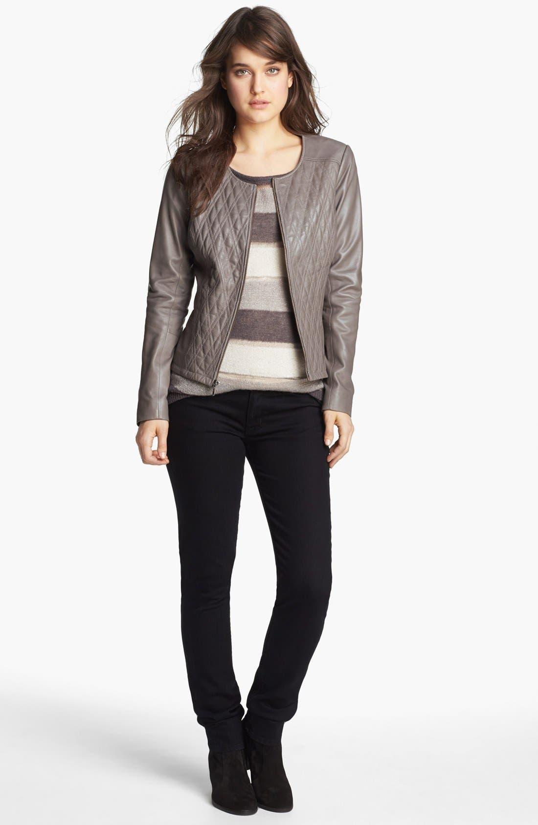 Main Image - Hinge Jacket, Sweater & Hudson Jeans Skinny Jeans