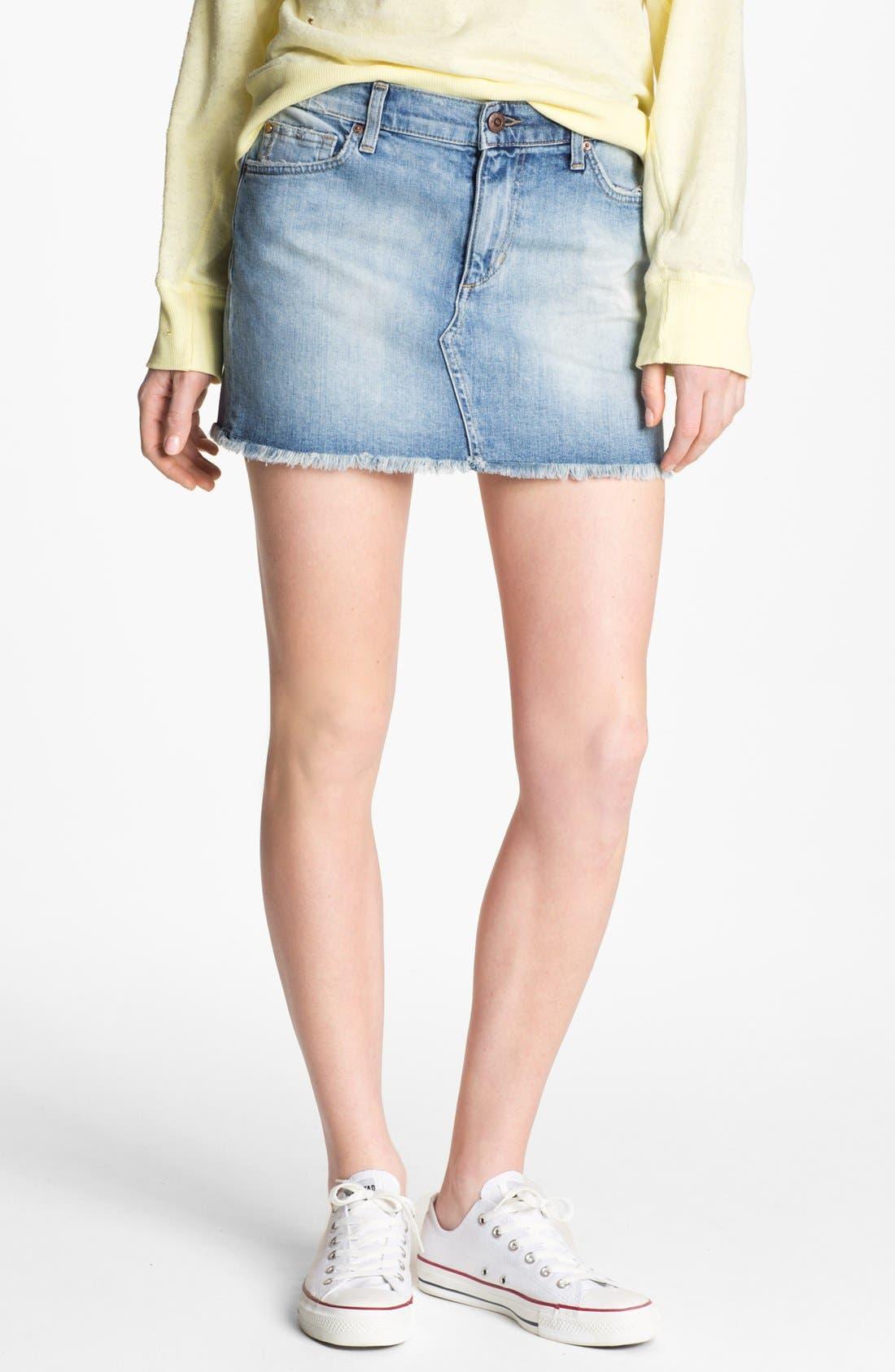 Alternate Image 1 Selected - Joe's 'Easy Cutoff' Denim Miniskirt (Mila)
