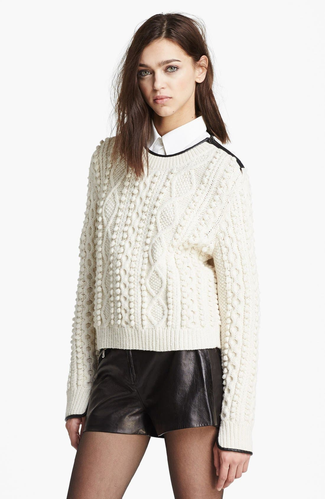 Alternate Image 1 Selected - 3.1 Phillip Lim Cable Knit Sweater