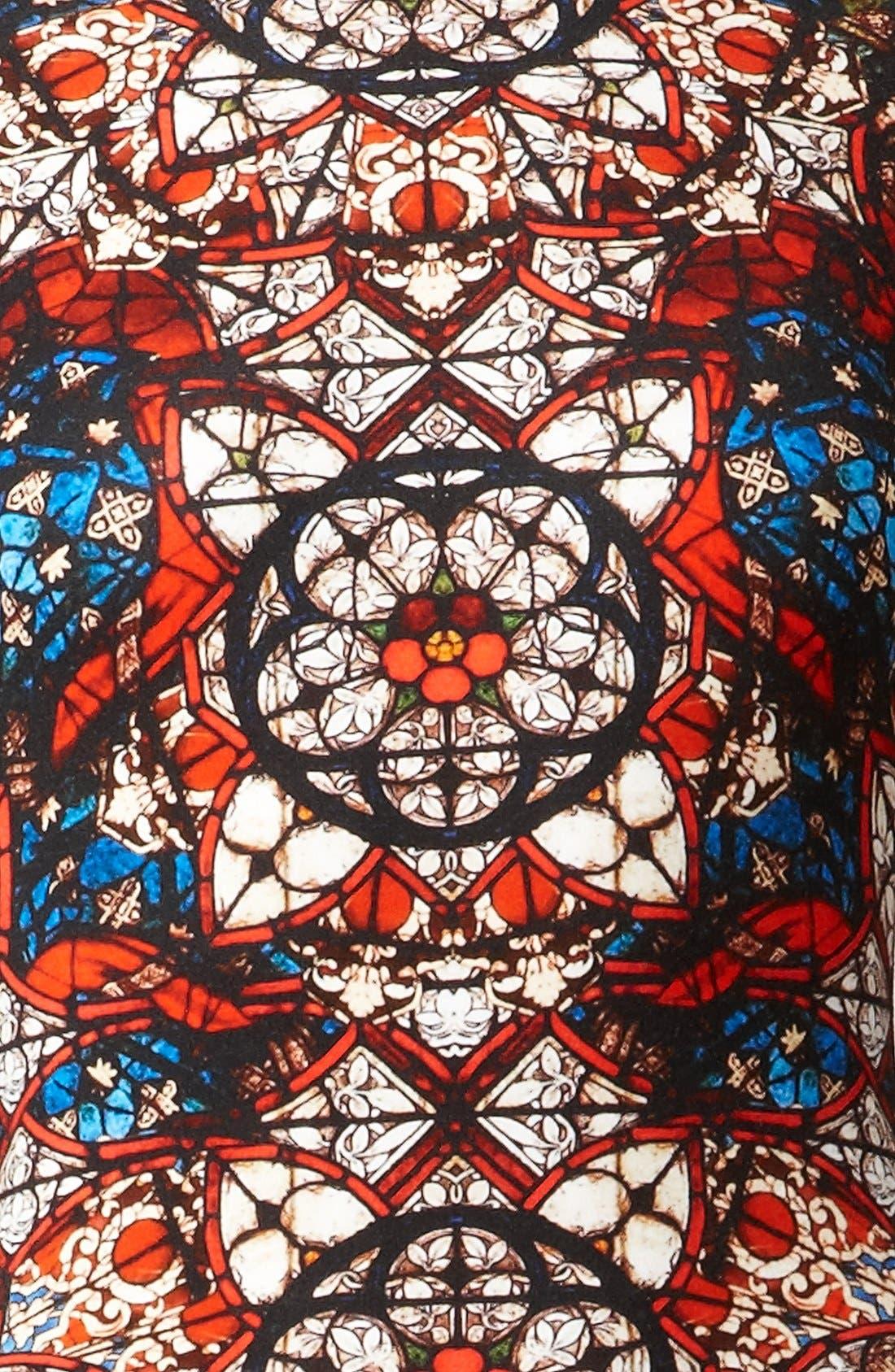 Alternate Image 3  - Alexander McQueen Stained Glass Print Jersey Dress