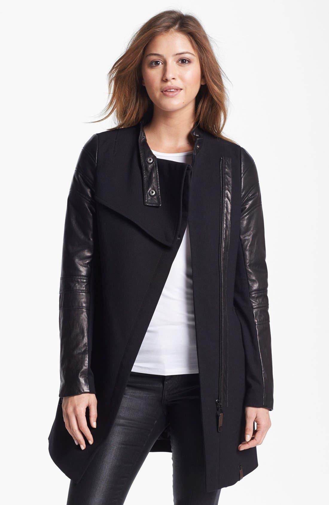 Main Image - Rudsak 'Raven' Asymmetrical Mixed Media Coat
