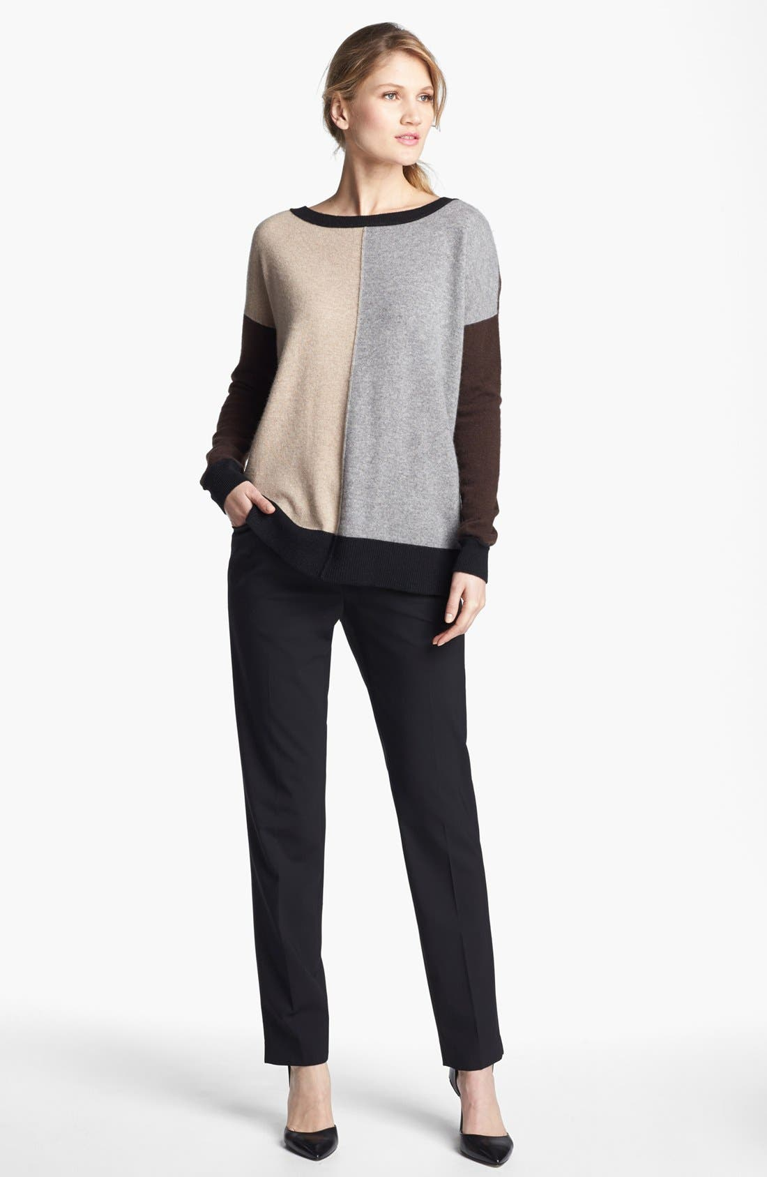 Alternate Image 3  - Pure Amici Colorblock Oversized Cashmere Sweater