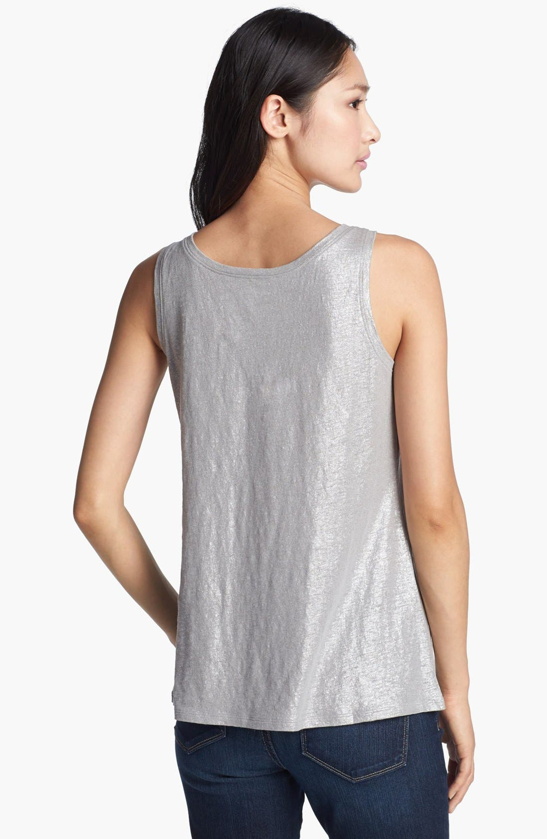 Alternate Image 2  - Eileen Fisher Shimmer Jersey Tank