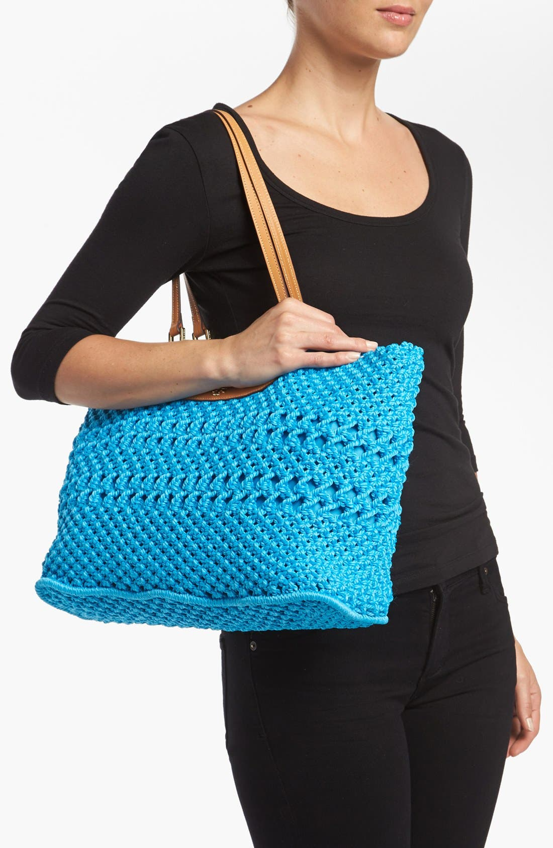 Alternate Image 2  - Tory Burch 'Dawson - Large' Crocheted Tote