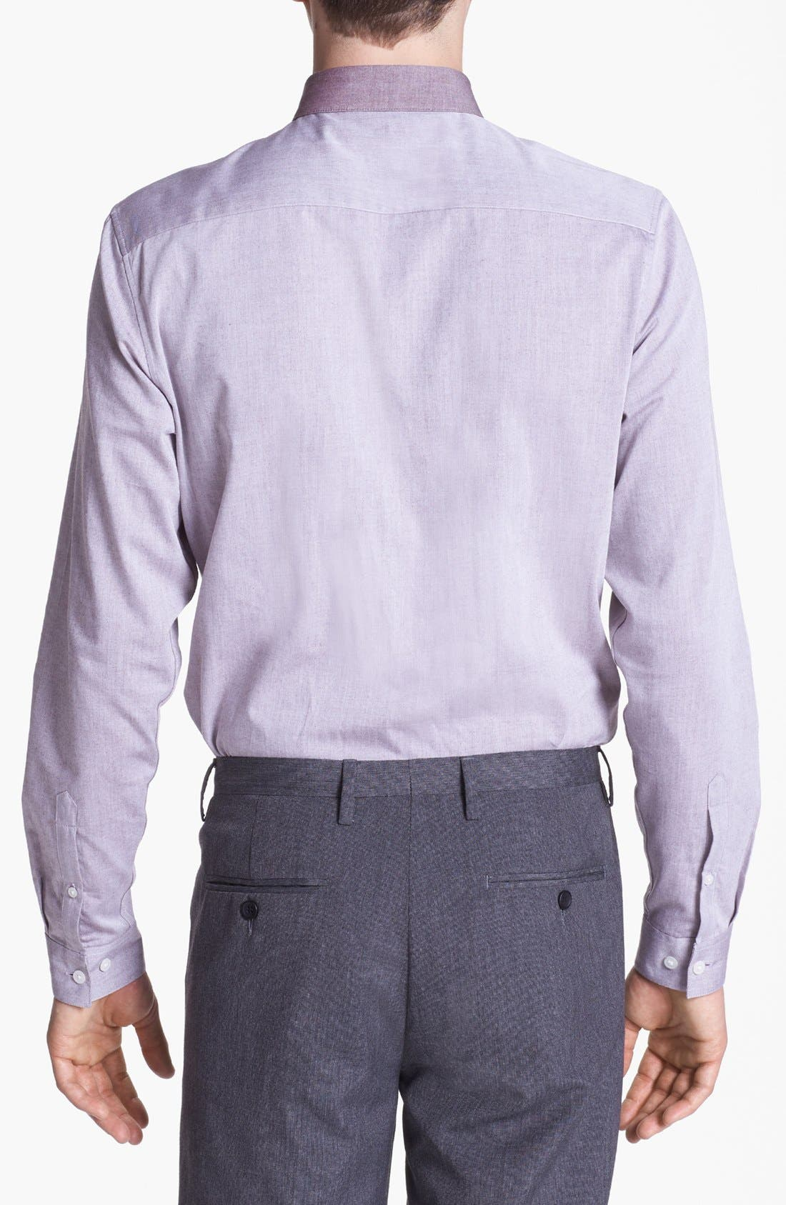 Alternate Image 2  - Topman 'Smart' Round Collar Dress Shirt