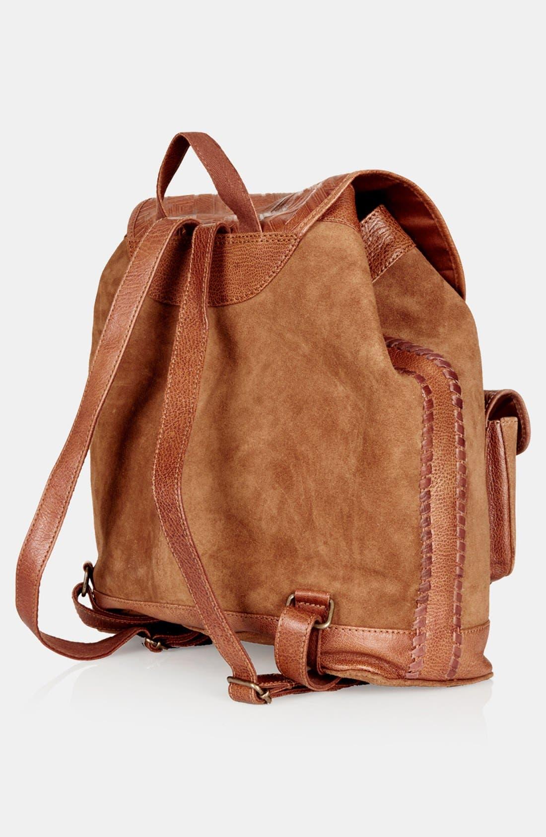 Alternate Image 3  - Topshop Suede Backpack