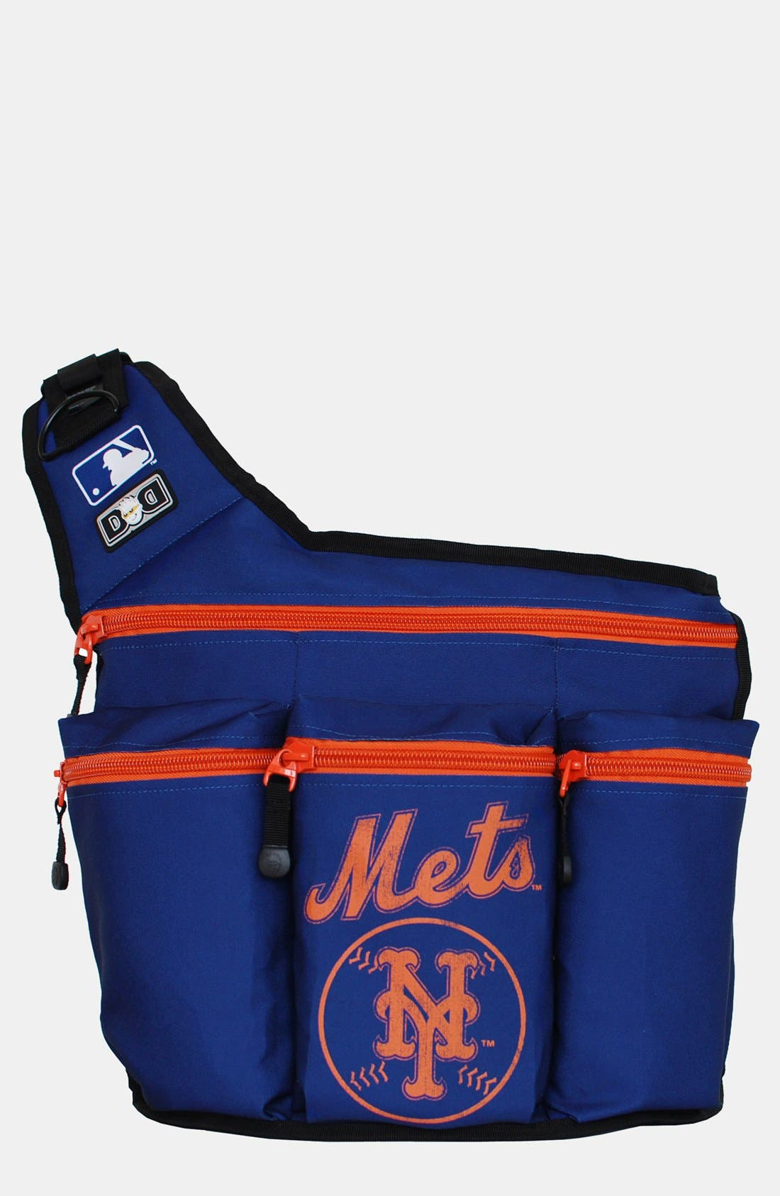 Main Image - Diaper Dude 'New York Mets' Messenger Diaper Bag