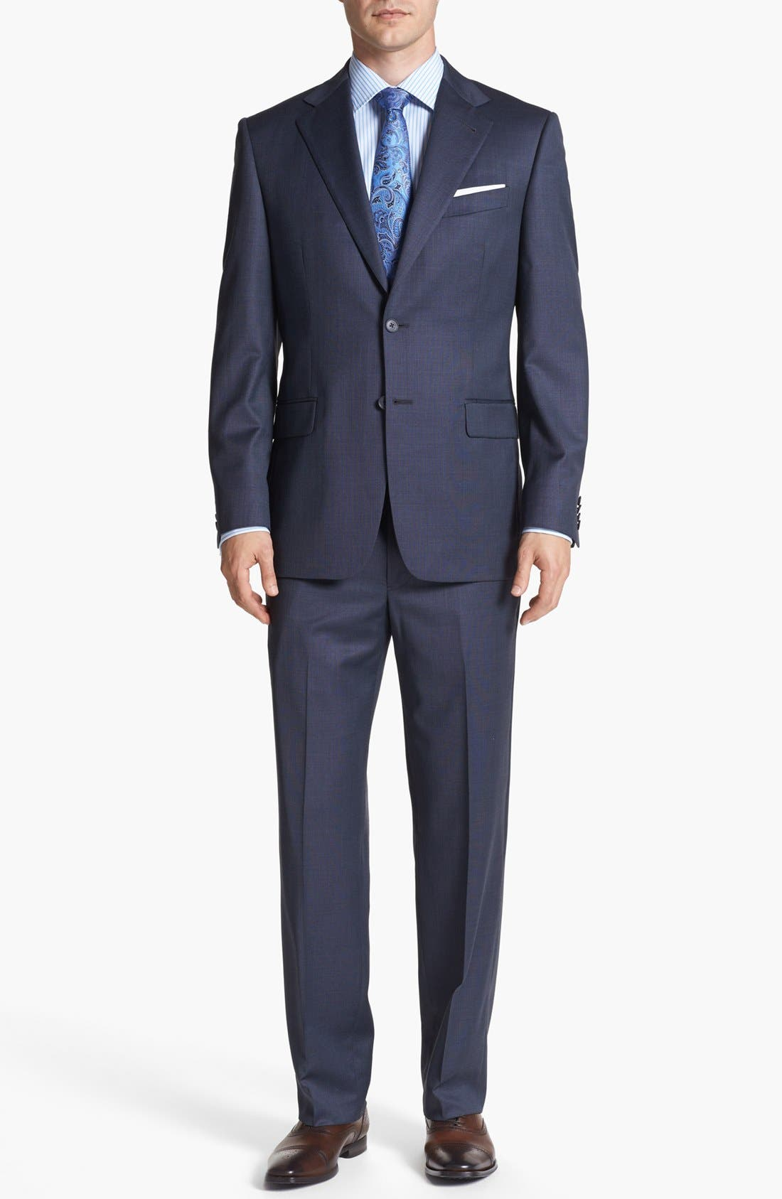 Alternate Image 1 Selected - Joseph Abboud 'Signature Silver' Wool Suit