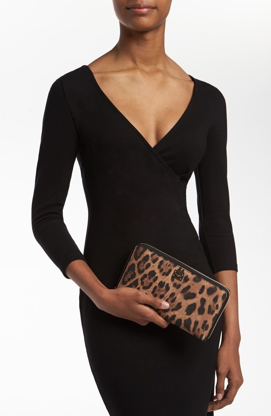Alternate Image 4  - Dolce&Gabbana 'Extra Large' Checkbook Wallet