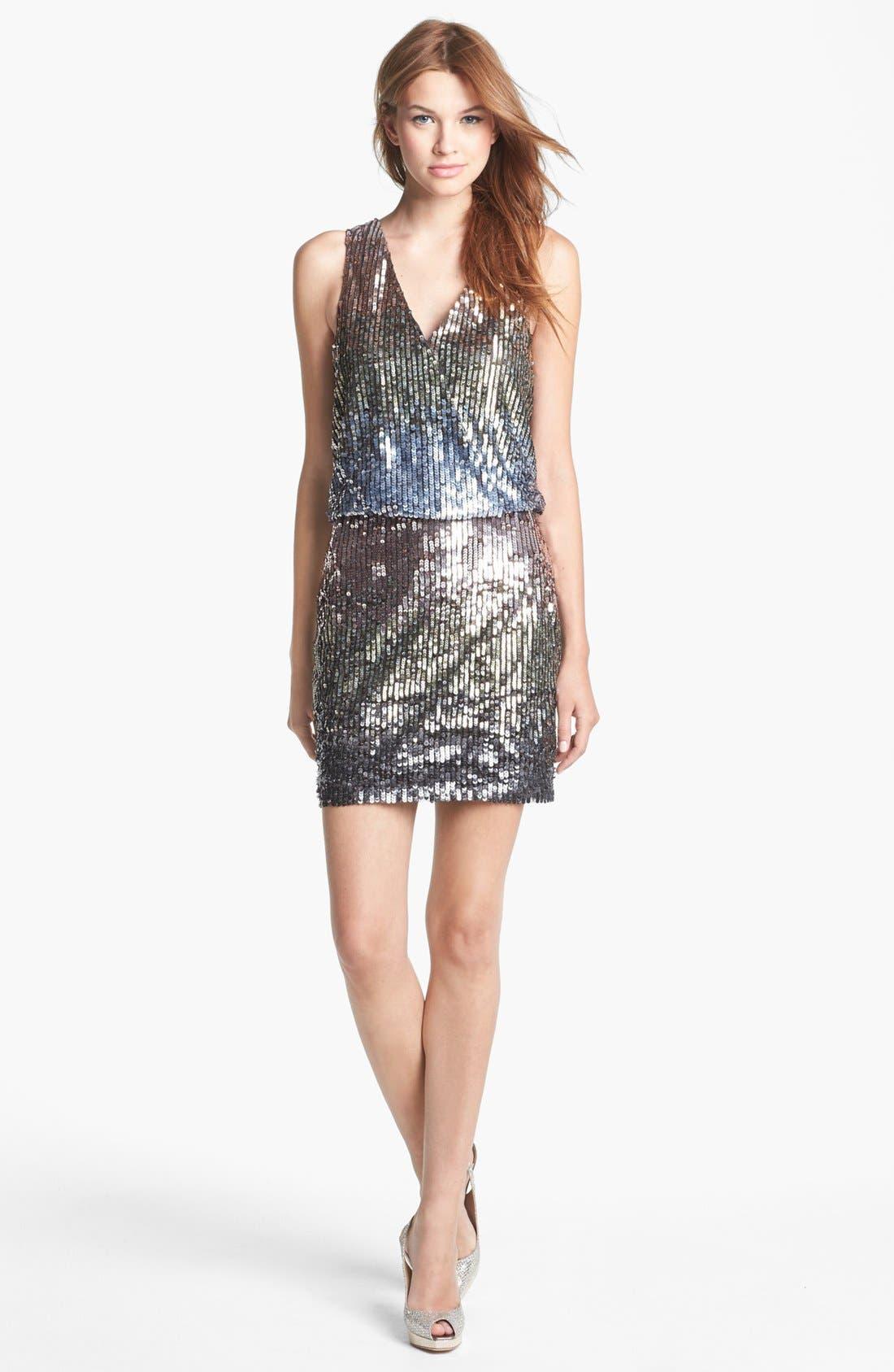 Alternate Image 1 Selected - Nicole Miller Sleeveless Ombré Sequin Dress