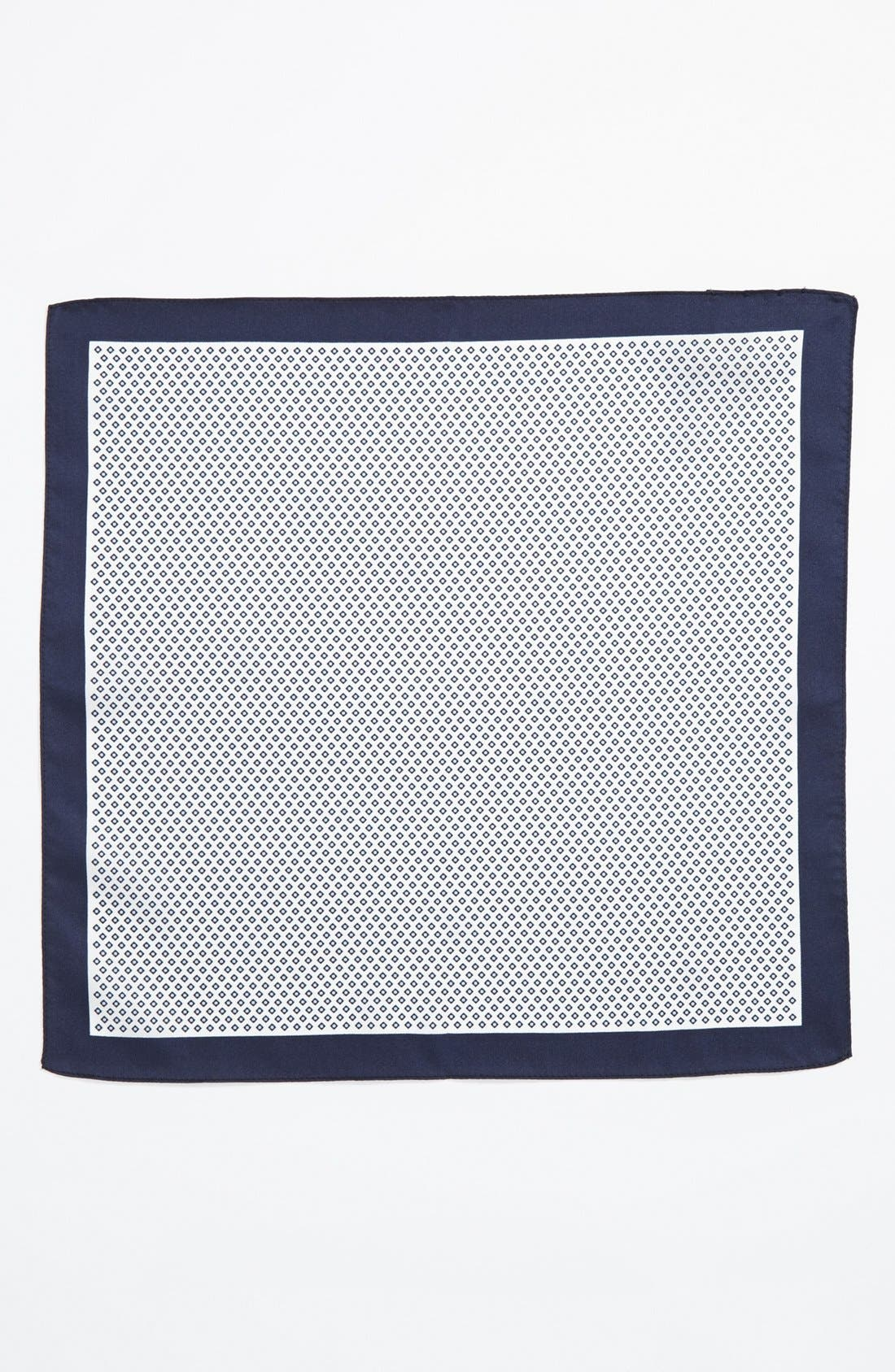 Alternate Image 2  - BOSS Black Silk Pocket Square