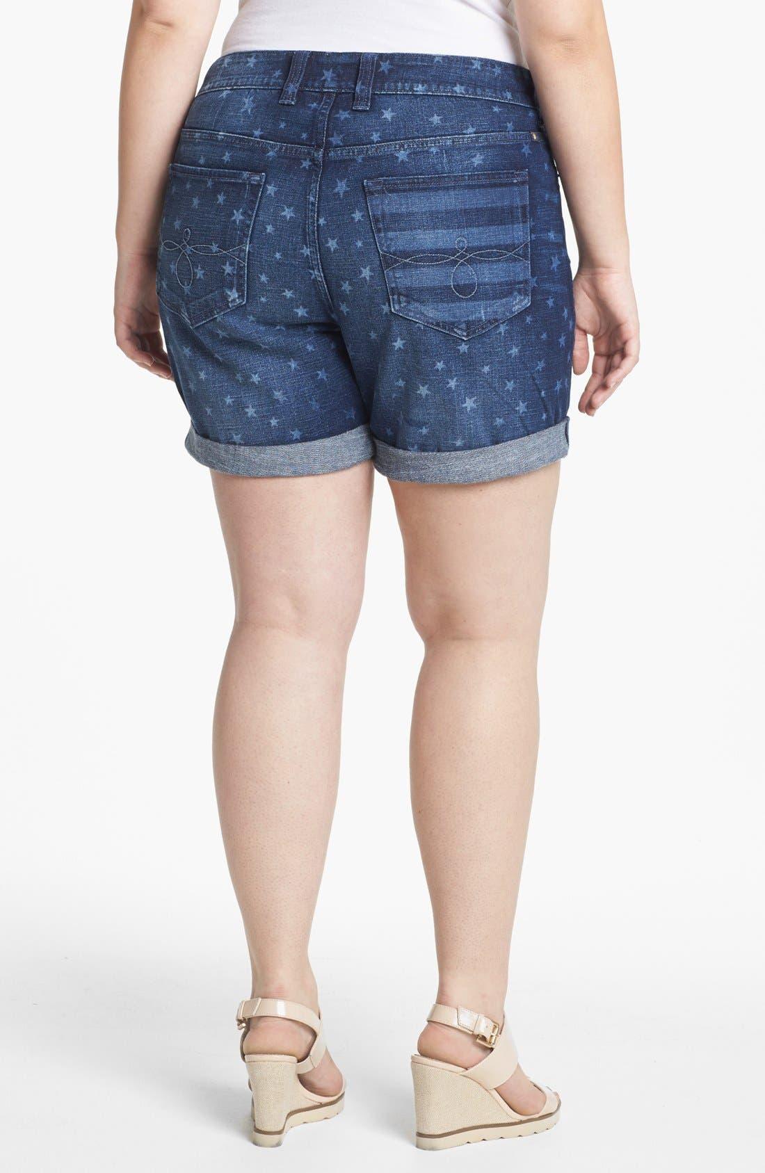 Alternate Image 2  - Lucky Brand 'Americana' Denim Shorts (Plus Size)