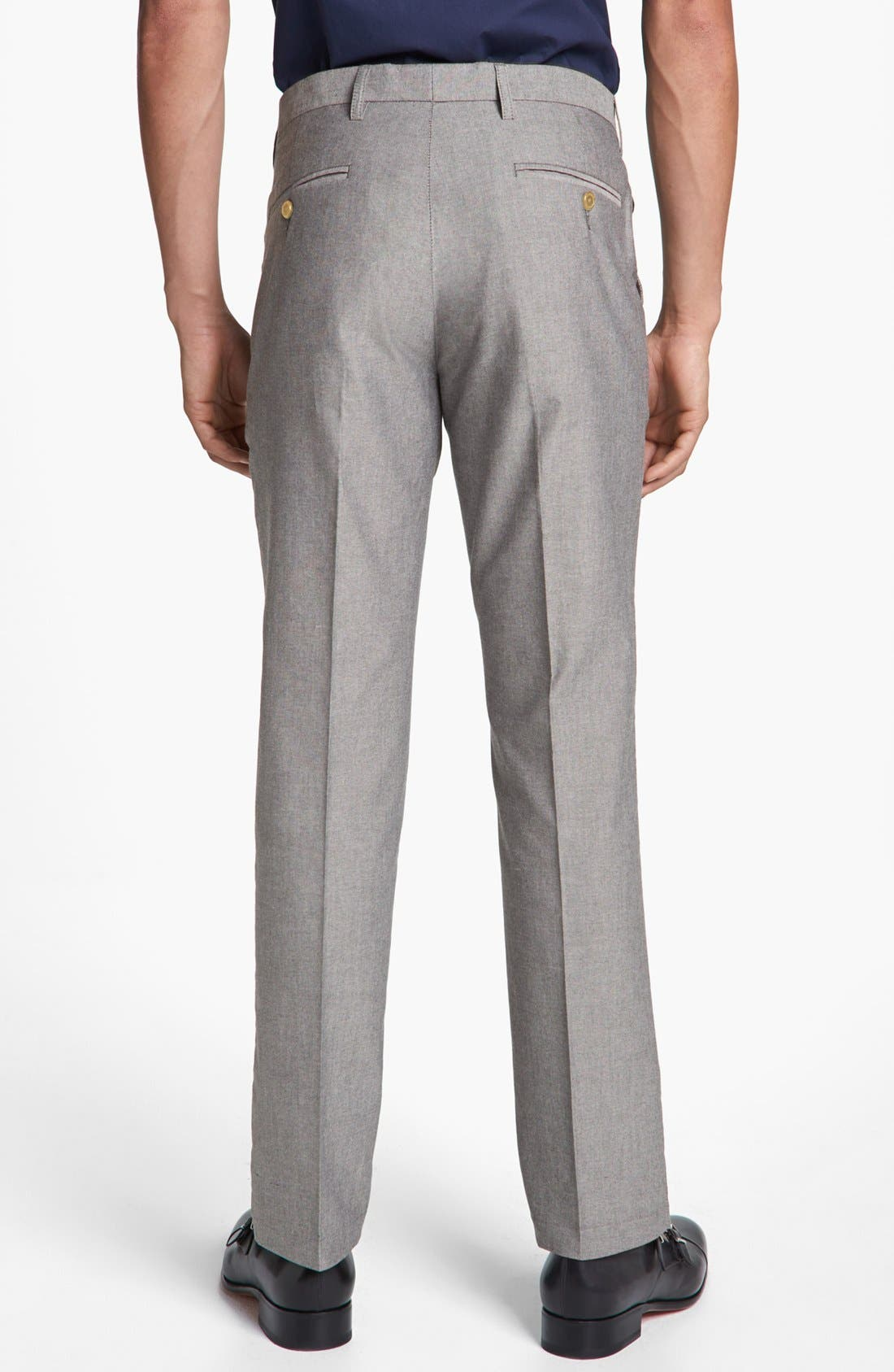 Alternate Image 2  - Topman Skinny Oxford Trousers