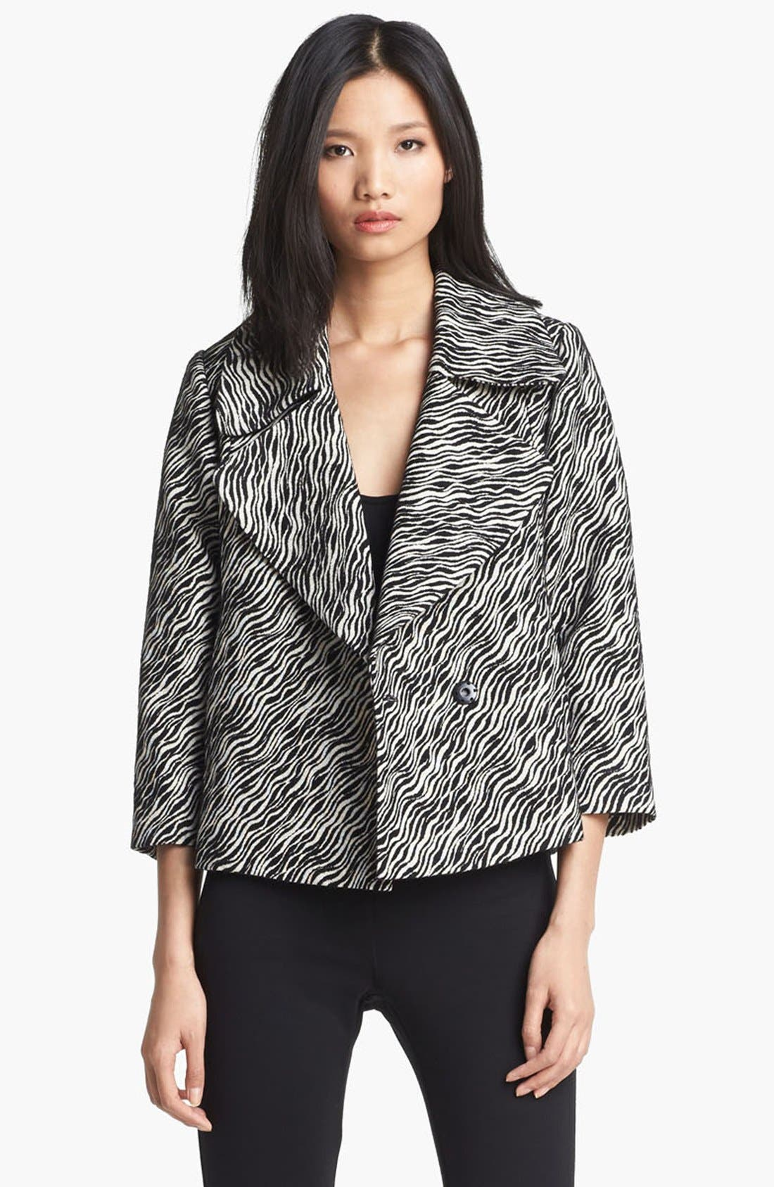 Alternate Image 1 Selected - Tracy Reese Zebra Print Jacket