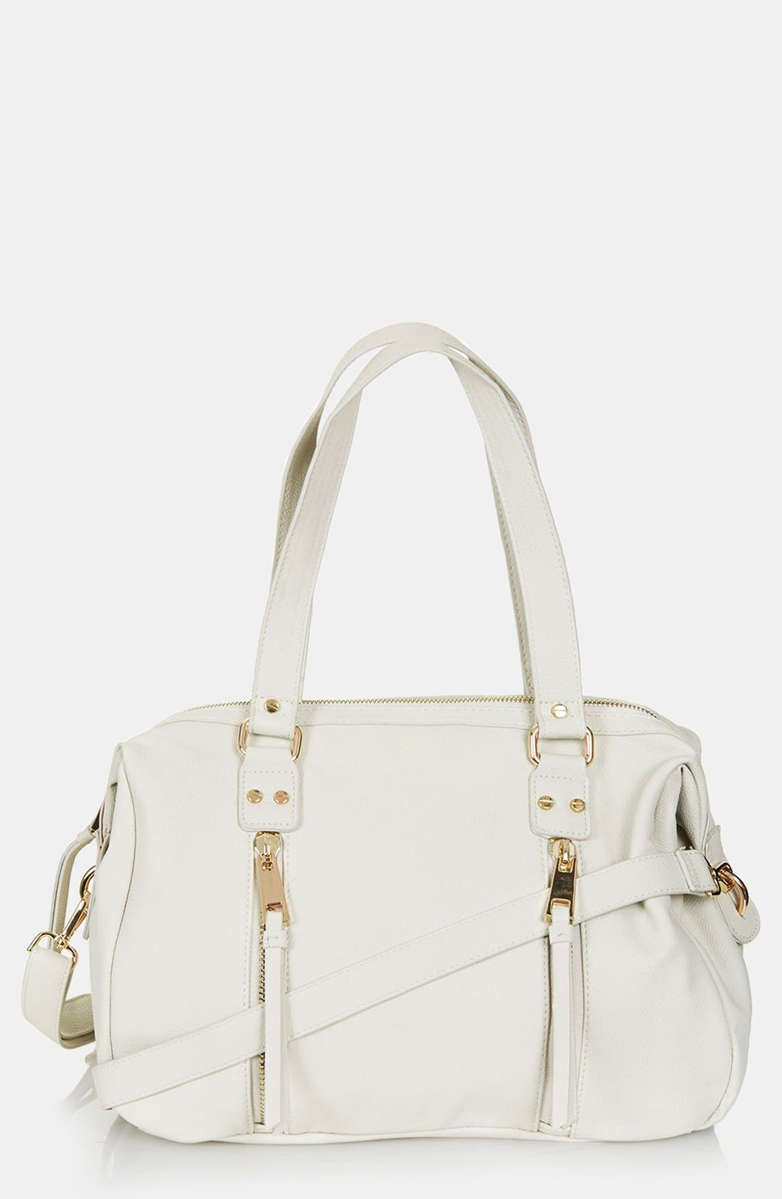 Alternate Image 1 Selected - Topshop Double Zip Satchel