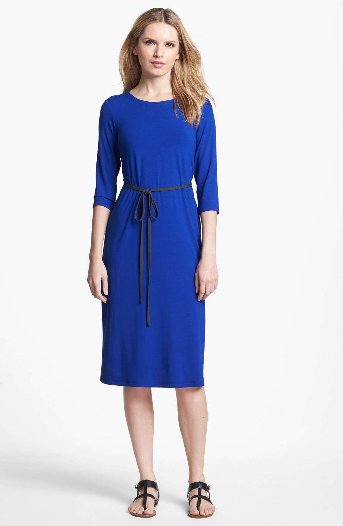 Alternate Image 1 Selected - Eileen Fisher Elbow Sleeve Dress