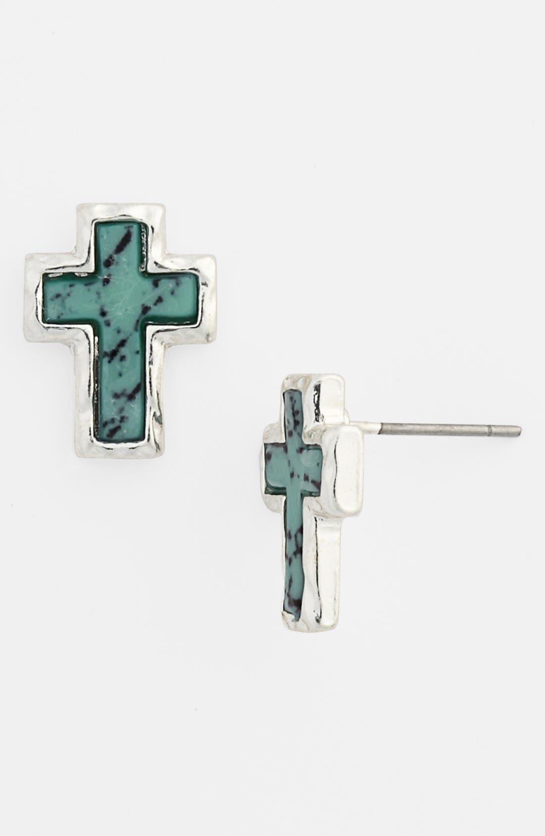 Alternate Image 1 Selected - Carole Cross Earrings (Juniors) (Online Only)
