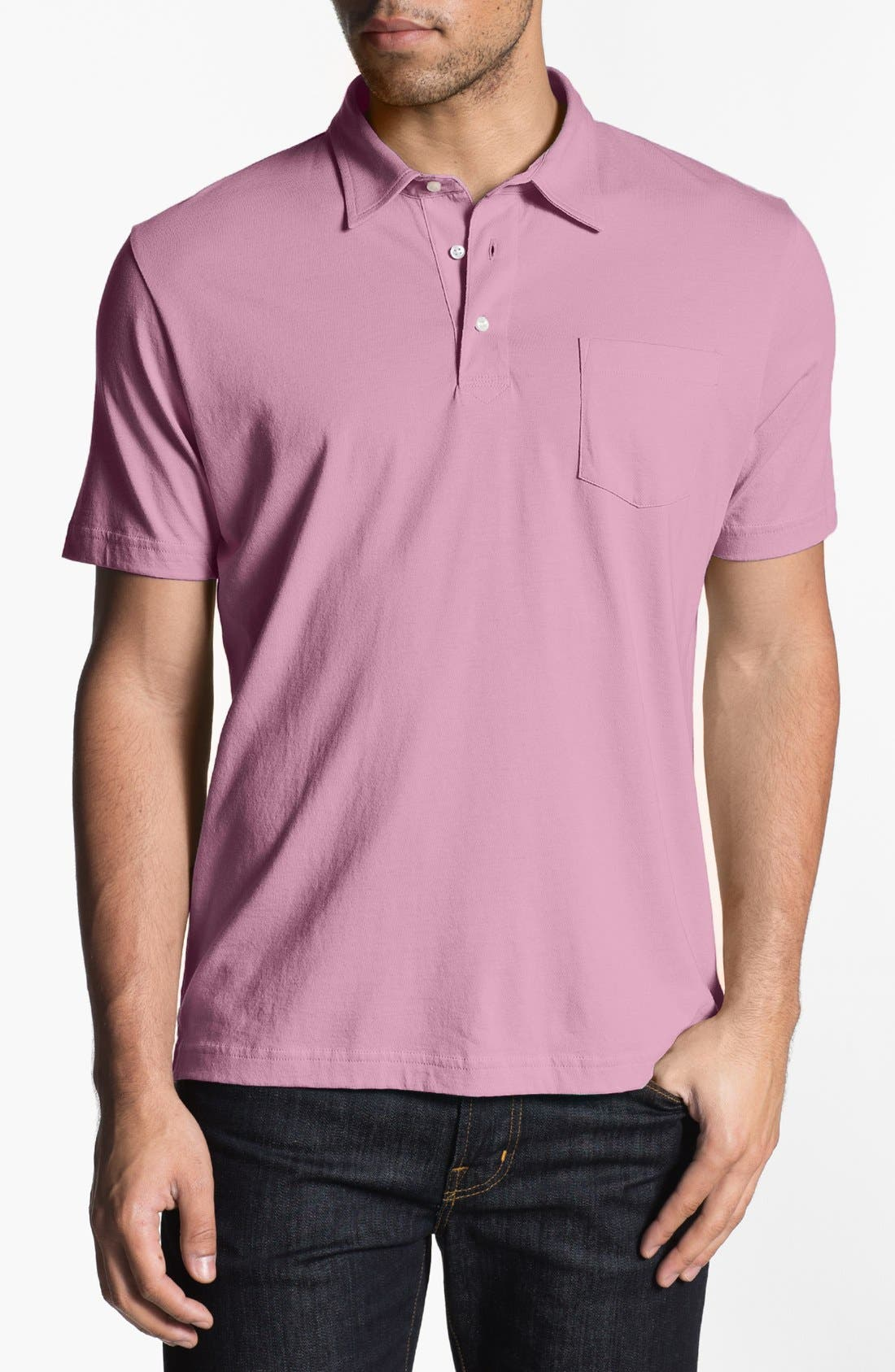 Main Image - Peter Millar Taylor Fit Vintage Wash Jersey Polo