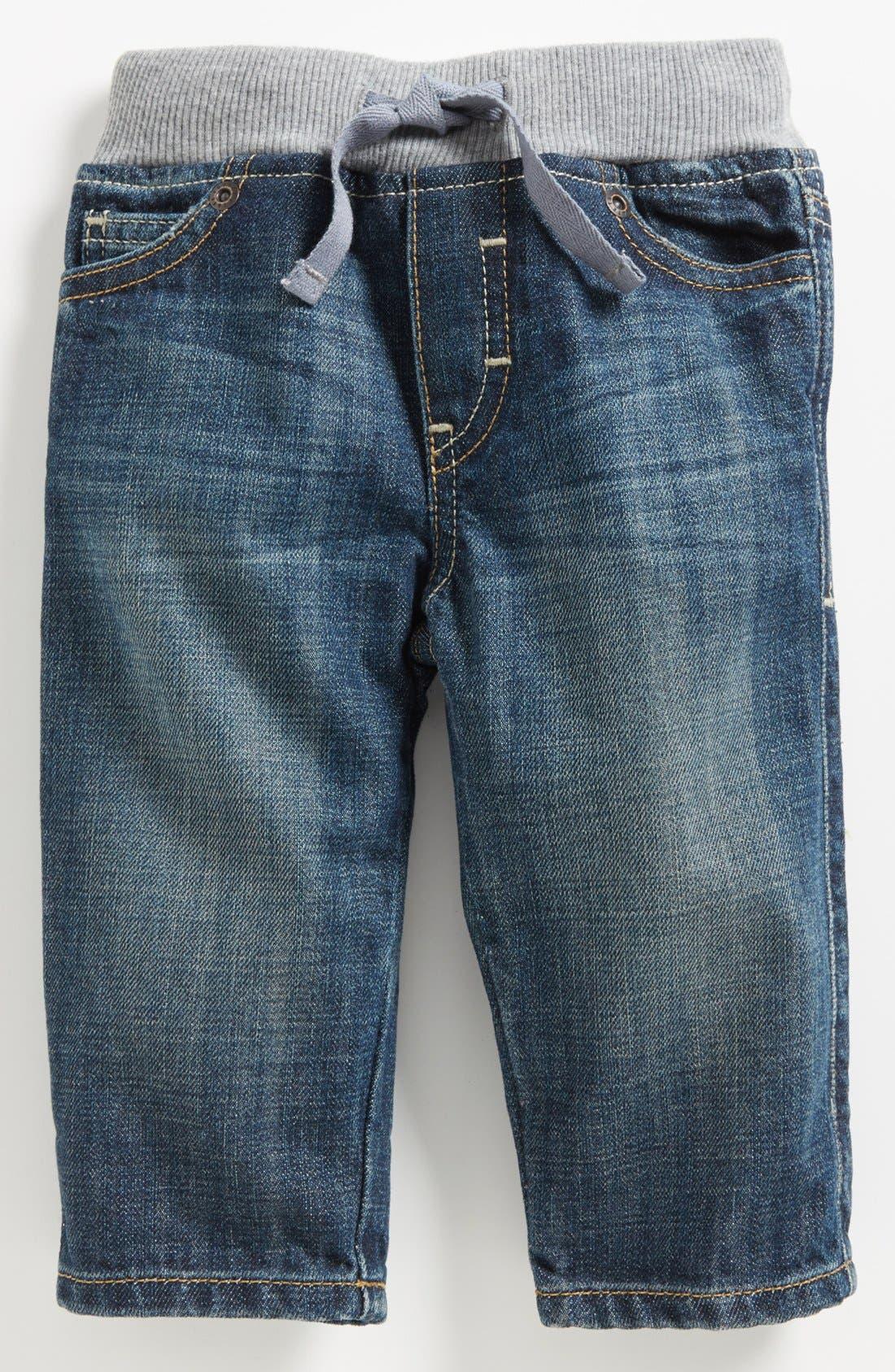Alternate Image 2  - Tucker + Tate Ribbed Waistband Jeans (Baby Boys)