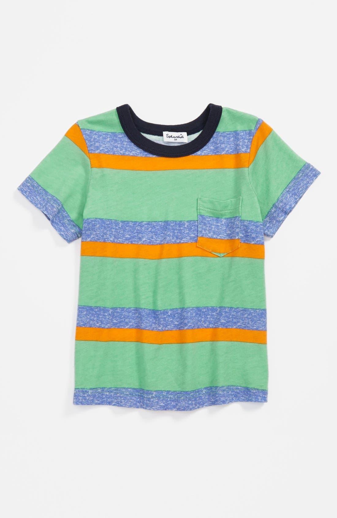 Alternate Image 1 Selected - Splendid 'Asher' Stripe T-Shirt (Toddler Boys)