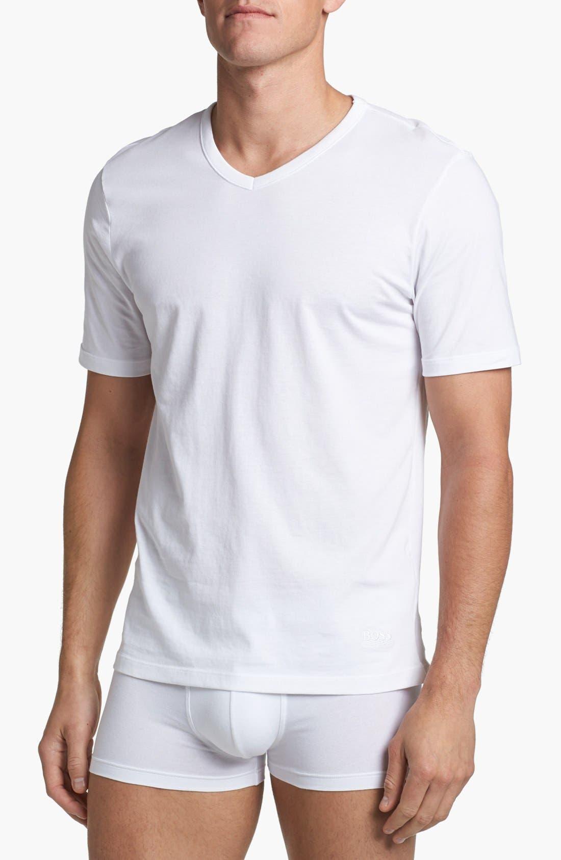 Alternate Image 1 Selected - BOSS 3-Pack V-Neck T-Shirt