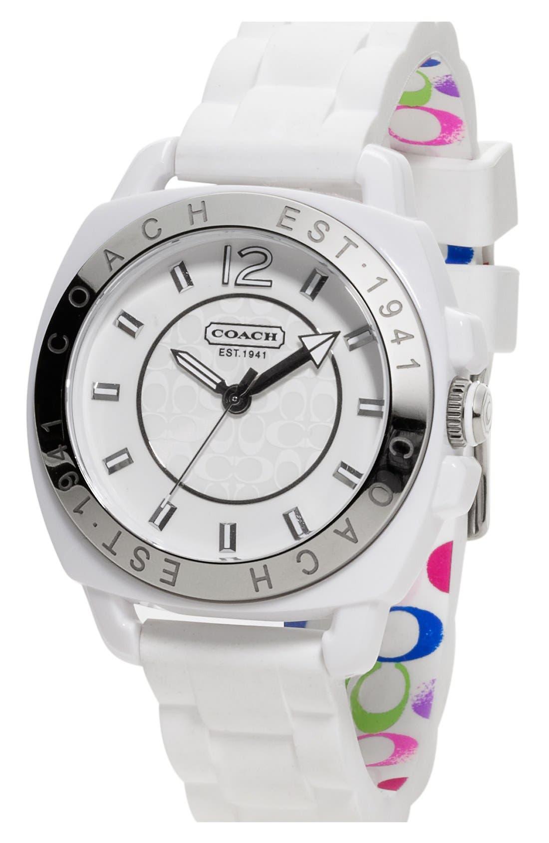 Main Image - COACH 'Boyfriend' Rubber Strap Watch