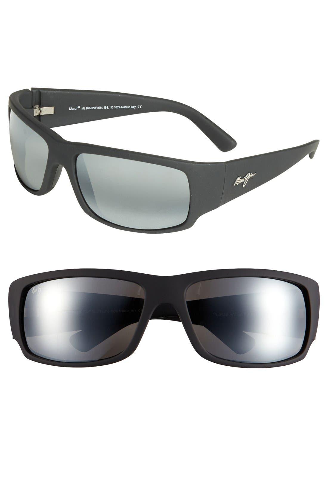 'World Cup - PolarizedPlus<sup>®</sup>2' 64mm Sunglasses,                         Main,                         color, Matte Black