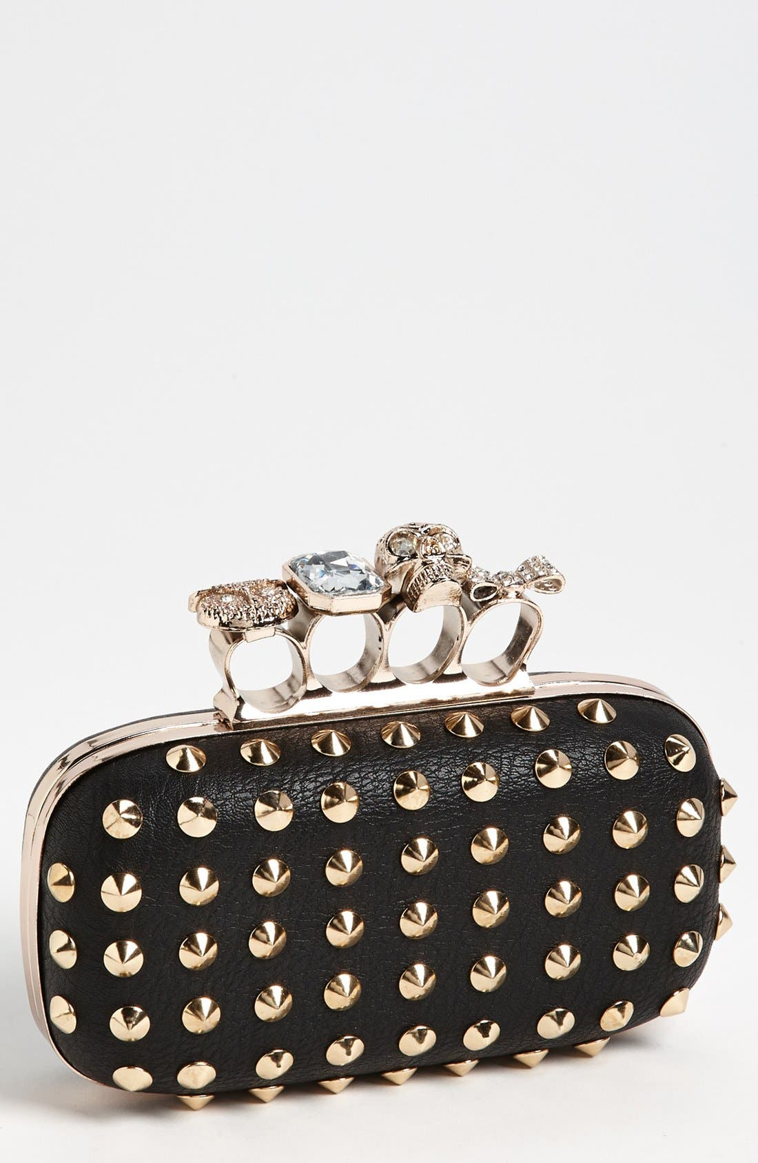 Main Image - Natasha Couture 'Finger' Studded Clutch